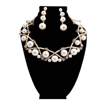 Gold Pearl Collar
